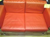 二人掛けソファーの半皮