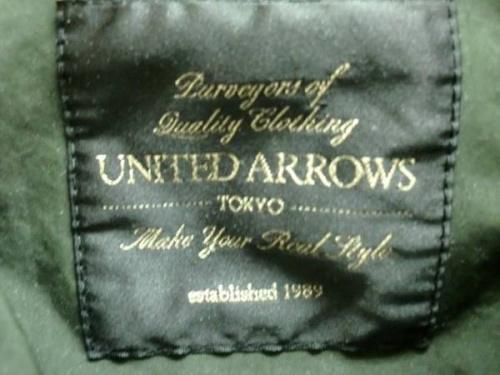 ジャケットのUNITED ARROWS