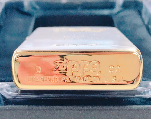 ジッポの金銀コンビメッキ