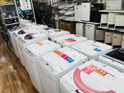 大型冷蔵庫の洗濯機 単身用