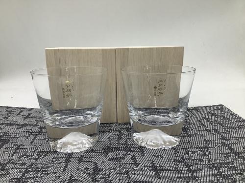 ガラスの富士山ロックグラス