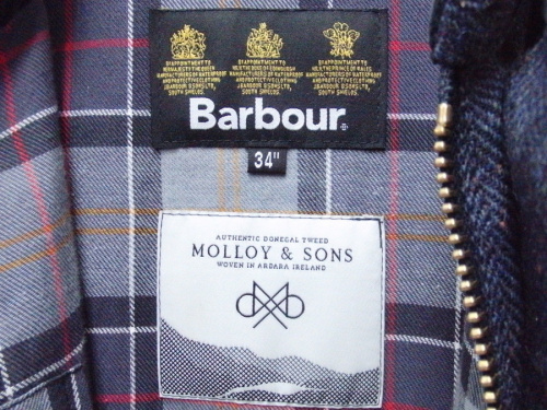 BEDALE SL -MOLLOY&SONSのBarbour