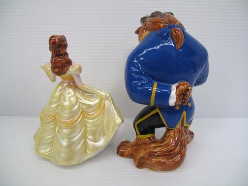 レトロ 陶器置物のDisney ディズニー 美女と野獣