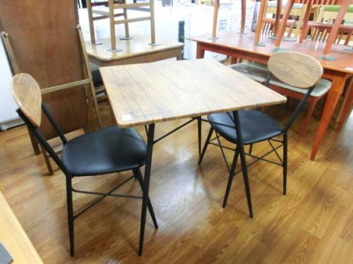家具 ダイニング3点セット のインダストリアル風家具