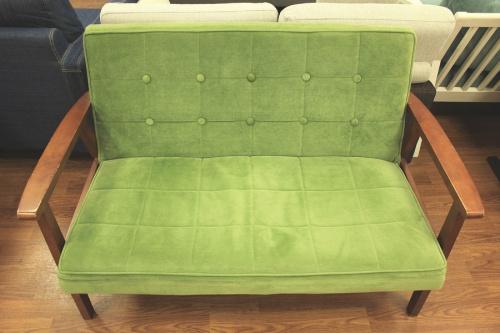 グリーン ブラウンのリビング家具