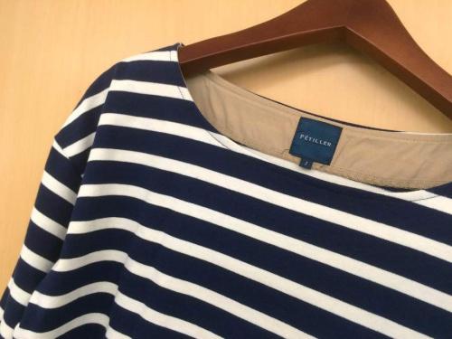 レディースファッションのバスクシャツ