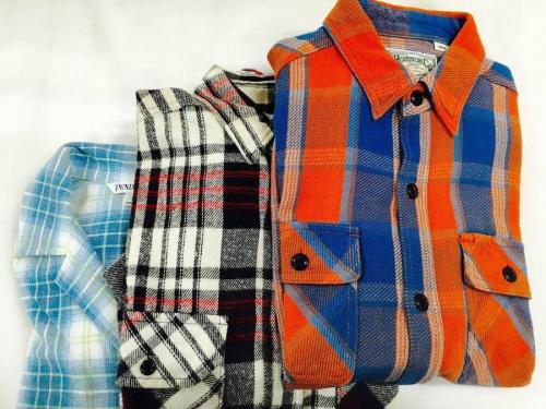 秋物買取のネルシャツ