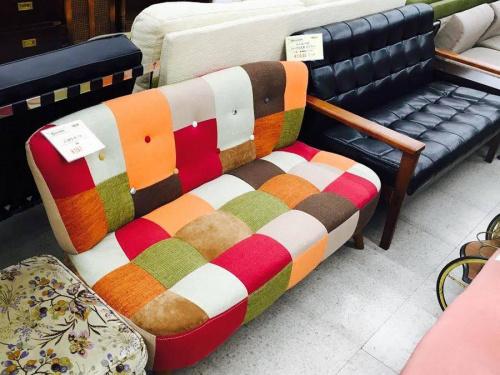 ソファーのパッチワークソファー