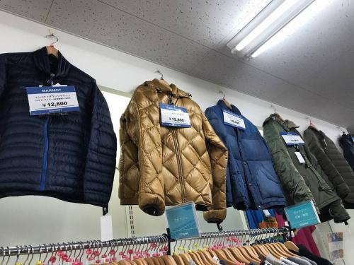 冬物の習志野衣類