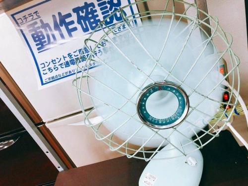 アイアン扇風機のビンテージ家電