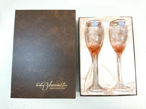 ワイングラスのBohemia glass