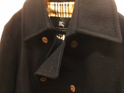 コートのBURBERRY BLACK LABEL