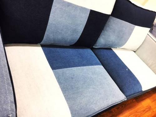 家具・インテリアのパッチワークソファー