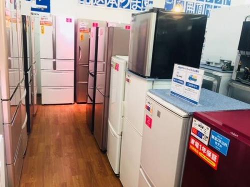 夏物の中古冷蔵庫
