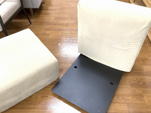 1人掛けソファーの無印良品