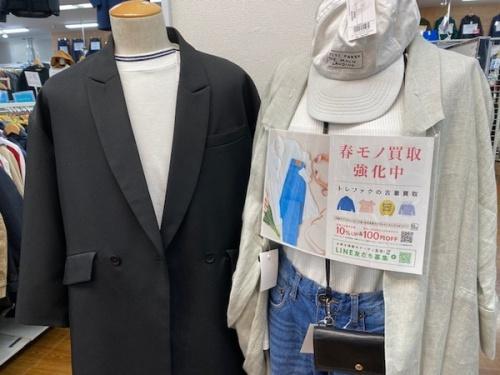 春物衣類のファッション