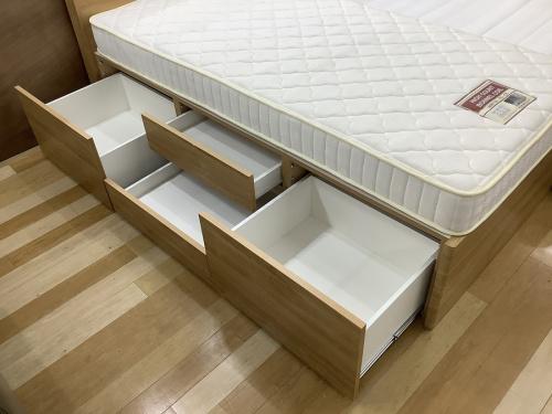 中古家具 岸和田の引き出し付 収納付 ベッド
