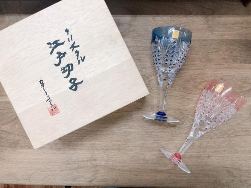 千葉 市川 船橋 江戸川 墨田 葛飾 幕張 中古 食器 買取の切子グラス