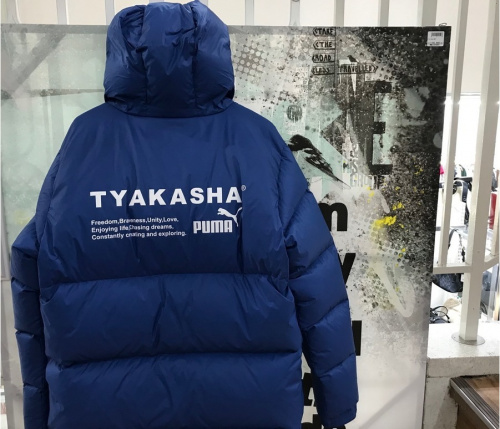 PUMA x TYAKASHAのダウンパーカー