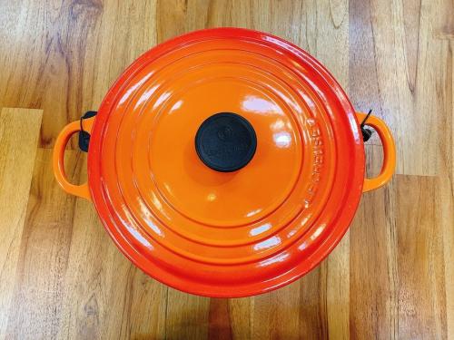 ココット・ロンド ホーロー鍋 中古 買取の♯2501 オレンジ