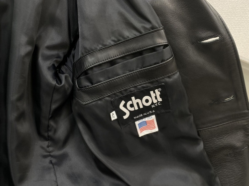 Schott ショットのレザーテーラードジャケット