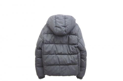 ジャケットのカシミア混ウールダウンジャケット