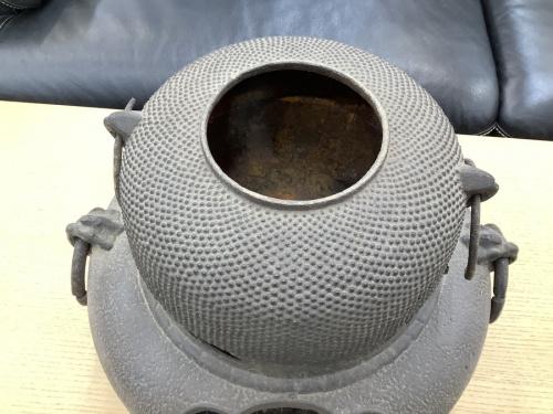 インテリア小物の茶釜