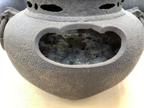 茶釜のサビ・ヨゴレ有
