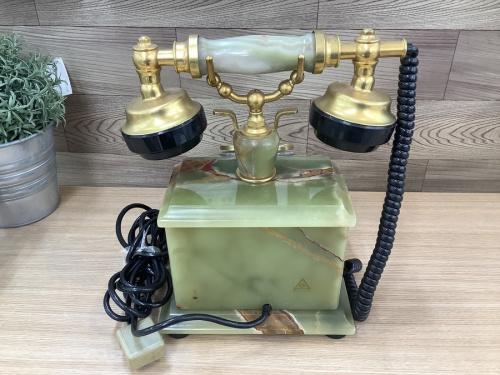 レトロ雑貨の【レトロジャンク置物】大理石電話
