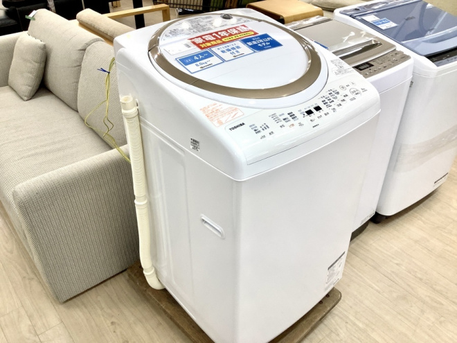 TOSHIBA(東芝) 8.0kg 縦型洗濯乾燥機が入荷いたしました! 【名古屋徳重店】