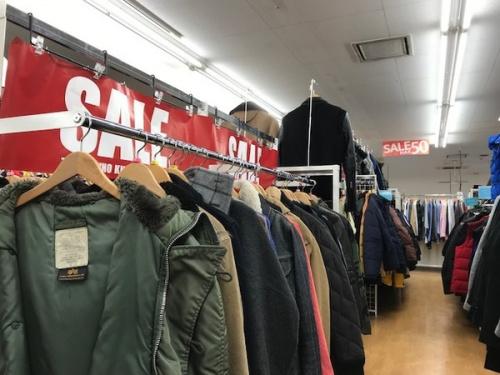 冬物 衣類 セールの武蔵野市 花小金井 国分寺 杉並 冬物 衣類 メンズ レディース