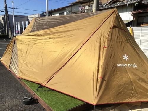 キャンプ用品のSNOWPEAK