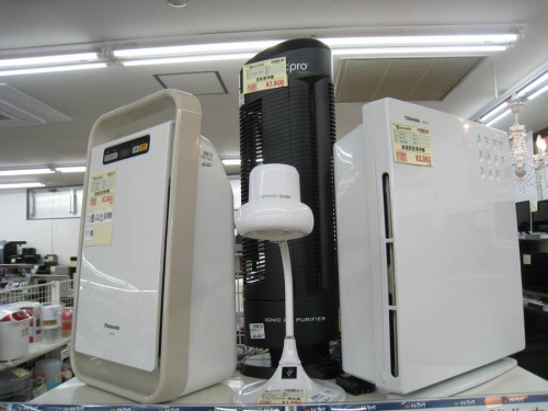 暖房の空気清浄機