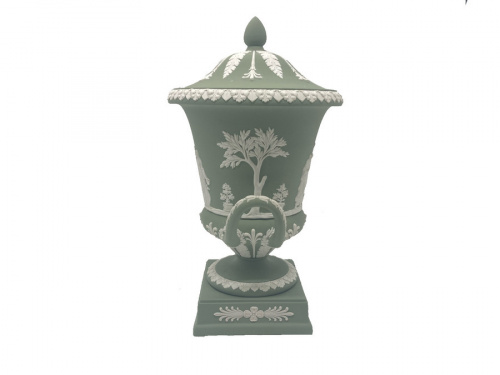 インテリア小物の蓋付花瓶 ジャスパー