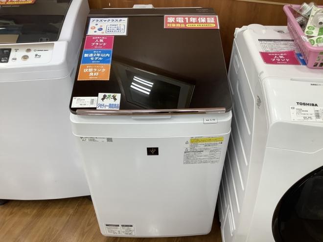 SHARP 縦型洗濯乾燥機 ES-PT10C-T 入荷しました。【所沢店】