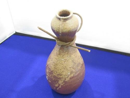 花瓶の備前焼