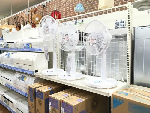 扇風機の季節家電