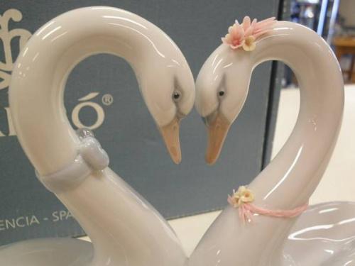 リヤドロの白鳥の置物