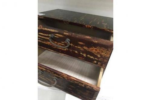2段小引き出しの桜皮細工