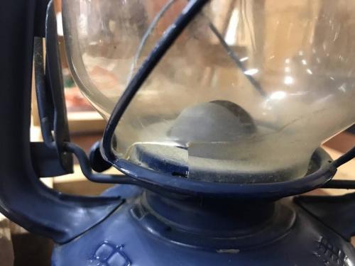 置物のハリケーンランプ
