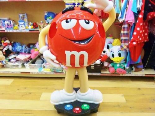 M&M'sのディスプレイ