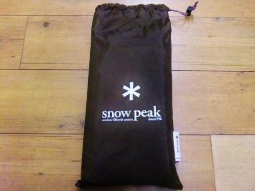 テントのsnow peak(スノーピーク)
