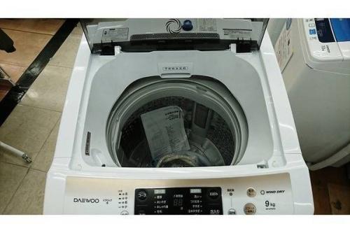 洗濯機の未使用