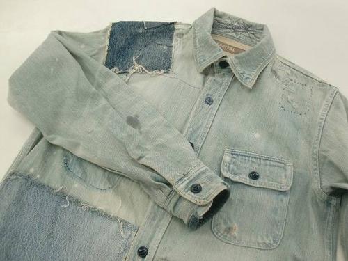 メンズファッションのデニムシャツ