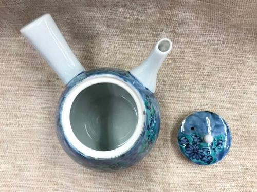 青彩菊絵茶器