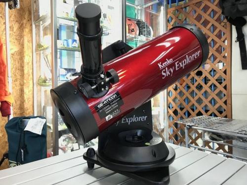 アウトドア用品の天体望遠鏡