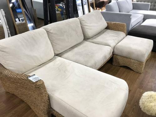 家具のアジアン調カウチソファ