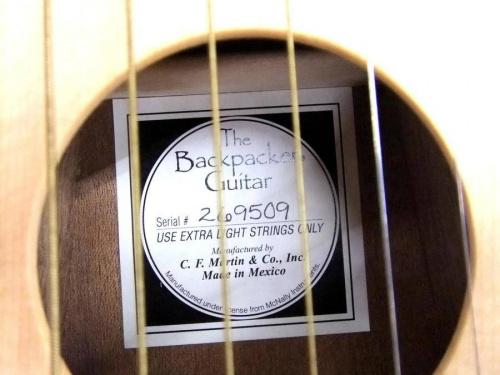 ギターのバックバッカーギター