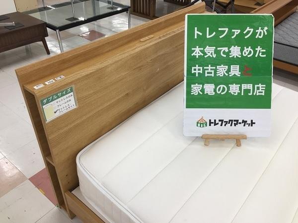 ニトリやunico(ウニコ)のダブルベッドなど! シングル~ワイドダブルまで中古ならではのお買い得ベッド取り揃えてます!