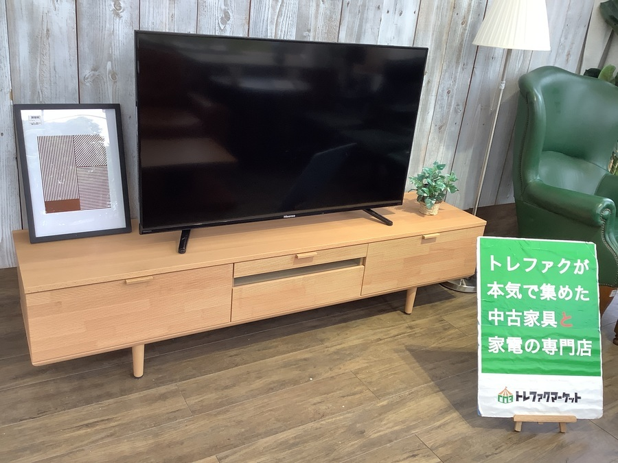 【karimoku(カリモク)】インテリア性と機能性の両面を併せ持つテレビボード(QD6107NE)が入荷しました! オンラインショッピングでも購入できます!【トレファクマーケット千葉おゆみ野店】